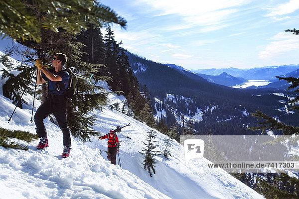 hoch  oben  Anschnitt  Stiefel  Eis  wandern  2  Snoqualmie  Schnee