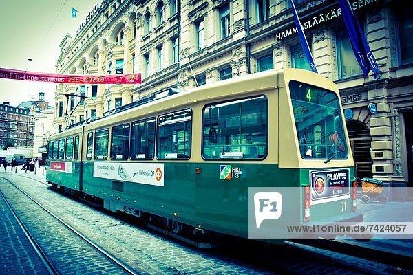 Helsinki  Hauptstadt  Straßenbahn  Finnland