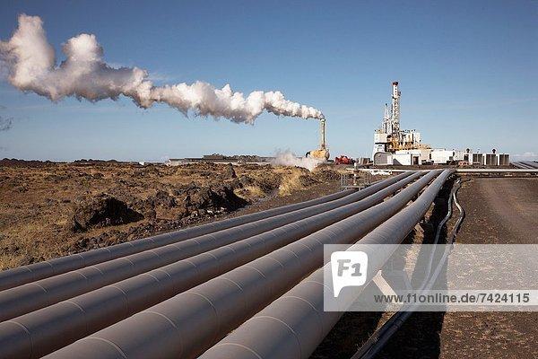 Gunnuhver Geothermal plant  Reykanes  Iceland