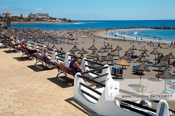 Strand  Kanaren  Kanarische Inseln  Spanien  Teneriffa Playa de las Americas