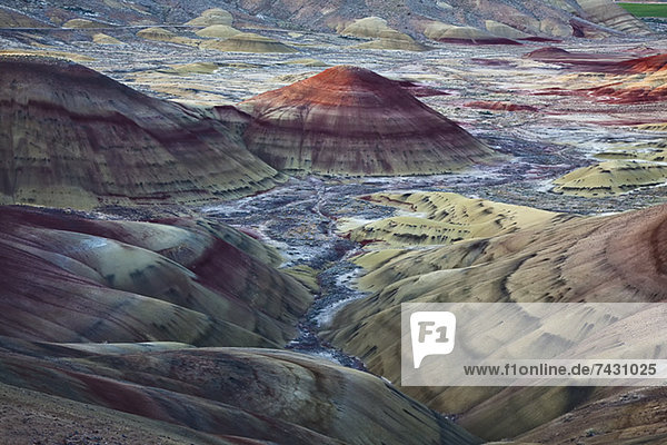 Blick auf Painted Hills in Oregon