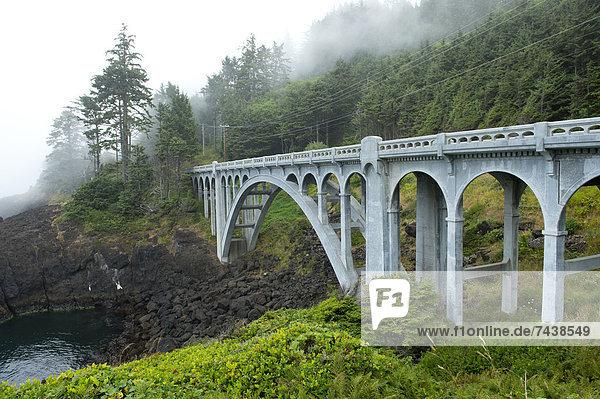 Felsen  über  strecken  Tal  Brücke