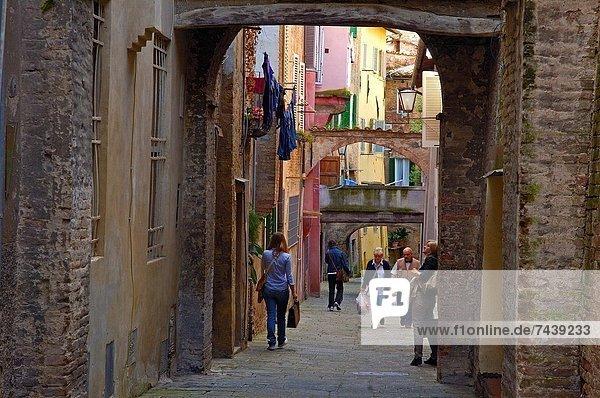 Europa Altstadt UNESCO-Welterbe Italien Siena Toskana