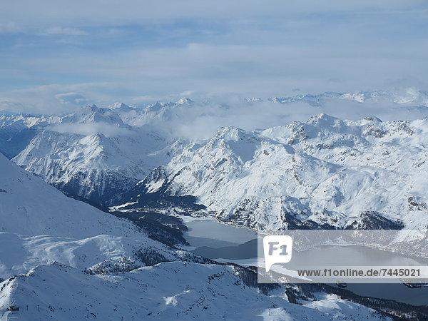 Sils-Maria  Sils im Engadin  Kanton Graubünden  Schweiz  Europa