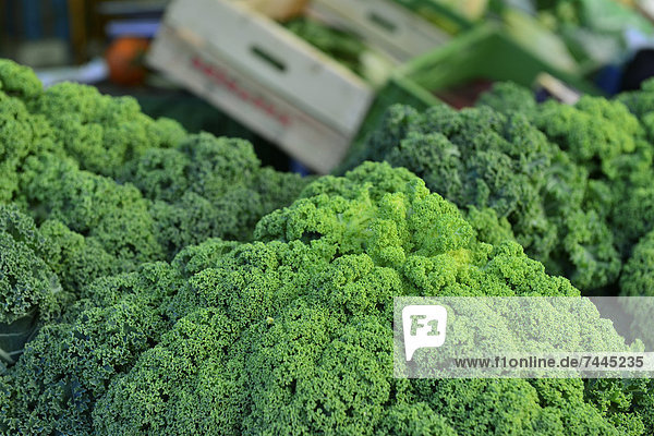 Grünkohl auf einem Markt