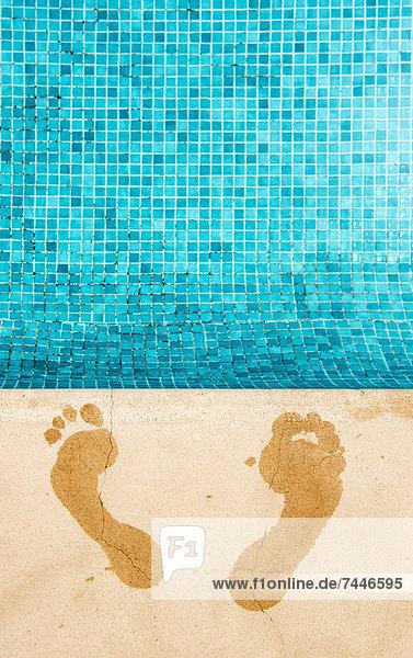 Spur Ecke Ecken 2 Schwimmbad