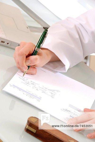schreiben  Arzt