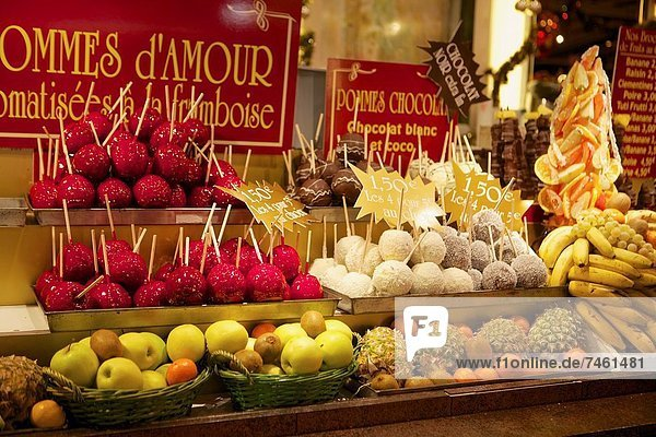 Frankreich  Frucht  Weihnachten  Zucker  Apfel  bedecken  Markt  Straßburg Frankreich ,Frucht ,Weihnachten ,Zucker ,Apfel ,bedecken ,Markt ,Straßburg