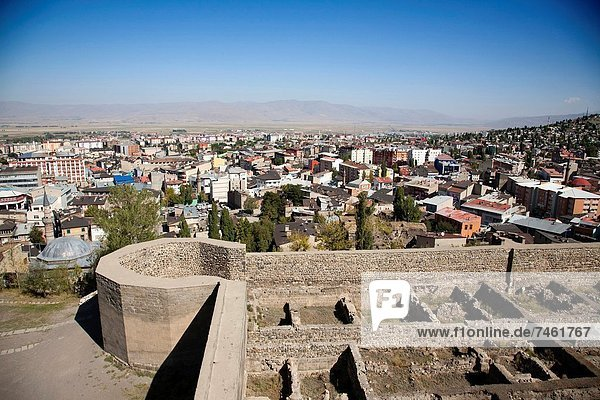 panoramic view from the fortress  town of erzurum  eastern anatolia  turkey  asia