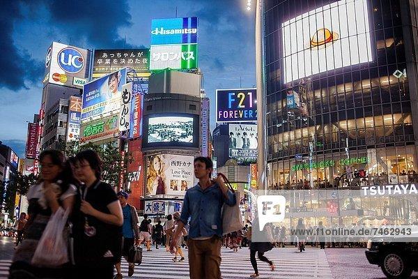 Scramble Kousaten crossing in Shibuya Tokyo city  Japan  Asia