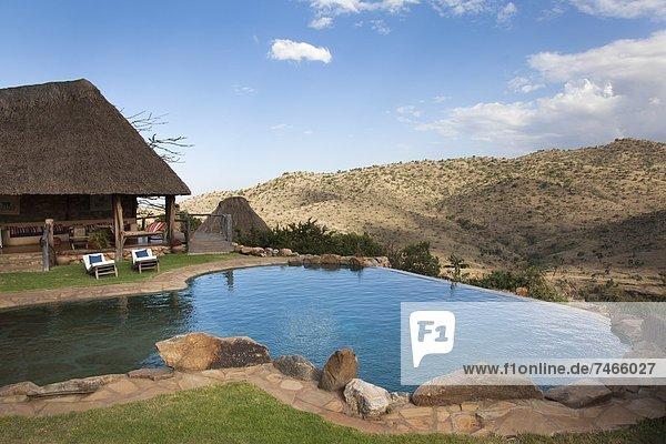 Ostafrika Weite Lodge Landhaus Reichtum Safari Ansicht Afrika Unendlichkeit Kenia