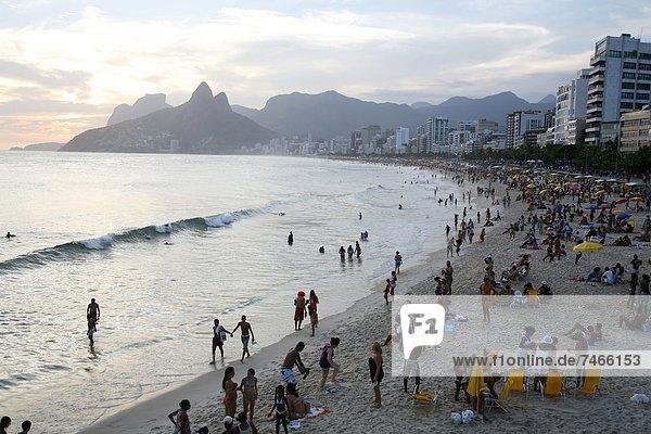 Ipanema Strand  Rio De Janeiro  Brasilien  Südamerika