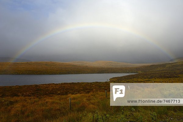 Europa  Großbritannien  Himmel  über  Sturm  See  Highlands  Regenbogen  Schottland
