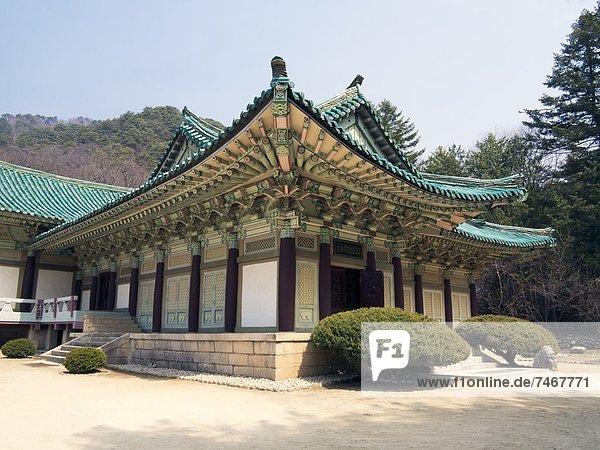 Pohyon Buddhist Temple  (Pohyon-sa)  Myohyangsan  Democratic People's Republic of Korea (DPRK)  North Korea  Asia