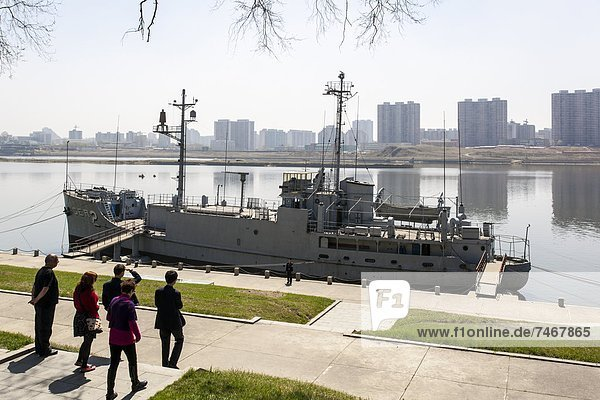Pueblo  the American Spy Ship captured by the North Koreans in the 1960s  Pyongyang  Democratic People's Republic of Korea (DPRK)  North Korea  Asia