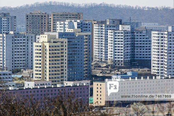 Demokratie Korea Asien Nordkorea Wohnhochhäuser
