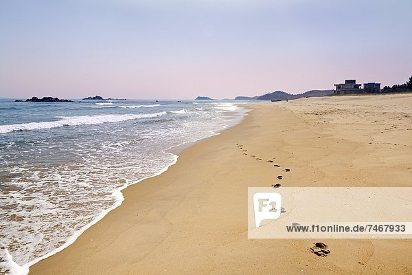 Beach resort area south of Wonsan  East Sea of Korea  Democratic People's Republic of Korea (DPRK)  North Korea  Asia