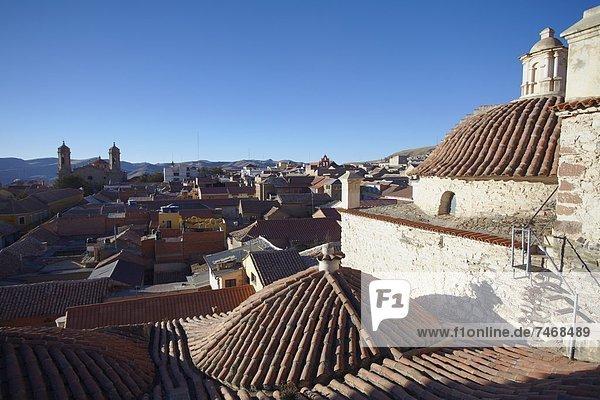 Dach  Ansicht  UNESCO-Welterbe  Bolivien  Potosi  Südamerika