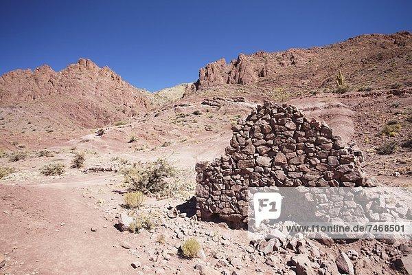 Wohnhaus Ziegelstein Ruine Dorf Bolivien Potosi Südamerika
