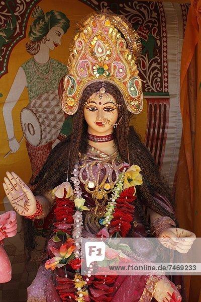 Hindu goddess  Goverdan  Uttar Pradesh  India  Asia