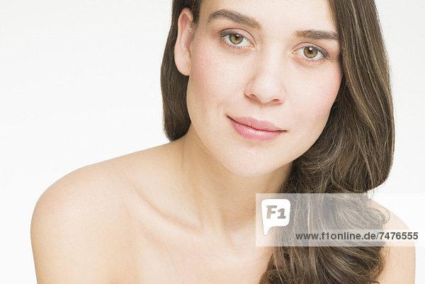 Portrait einer jungen Frau  Studio shot