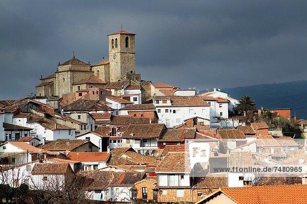 Jewish quarter and Santa Maria de Aguas church XVI-XVII centuries  Hervás  village declarated Historical-Artistic Site Caceres province Spain
