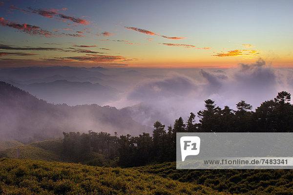 Der Berg Hehuan  Taiwan  China  Asien