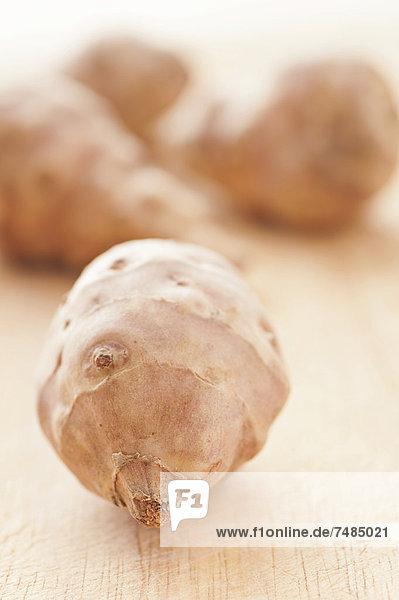 Topinambur oder Jerusalem-Artischocken  Wurzelknollen (Helianthus tuberosus)
