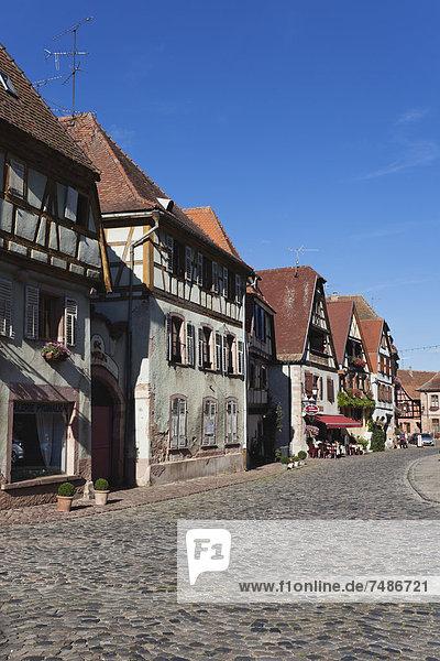 Frankreich  Elsass  Blick auf Bergheim