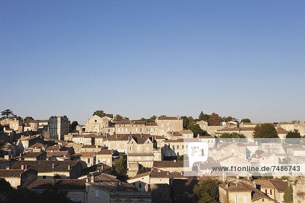 Frankreich  Blick auf Saint Emilion