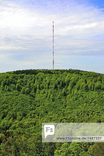 Deutschland  Nordrhein-Westfalen  Detmold  Blick auf den Funkturm am Berg Deutschland, Nordrhein-Westfalen, Detmold, Blick auf den Funkturm am Berg