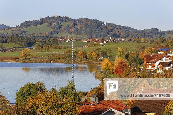 Deutschland  Bayern  Blick auf den Hopfensee