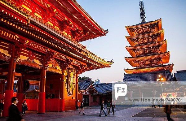 5  Tokyo  Hauptstadt  Eingang  Asien  Japan  Mon  Pagode