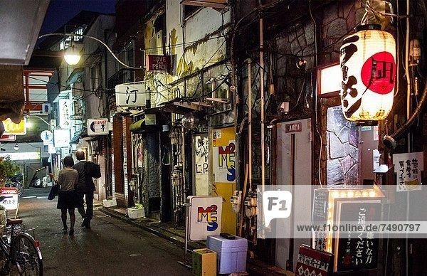 Golden gai alley at Shinjuku  Tokyo City  Japan  Asia