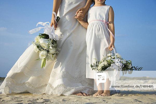 Braut  Blume  Strand  Mädchen