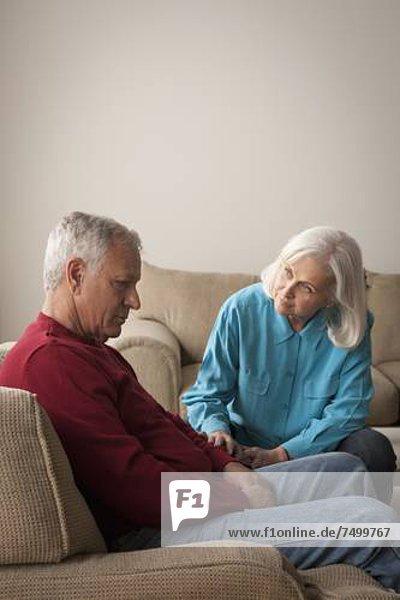 Senior  Senioren  Mitleid  Frau  Mann  Depression