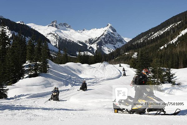 snowmobile adventure tour in Whistler British Columbia