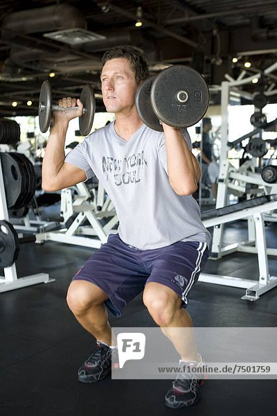 Fitnesstraining  Fitness-Studio  Sport  üben