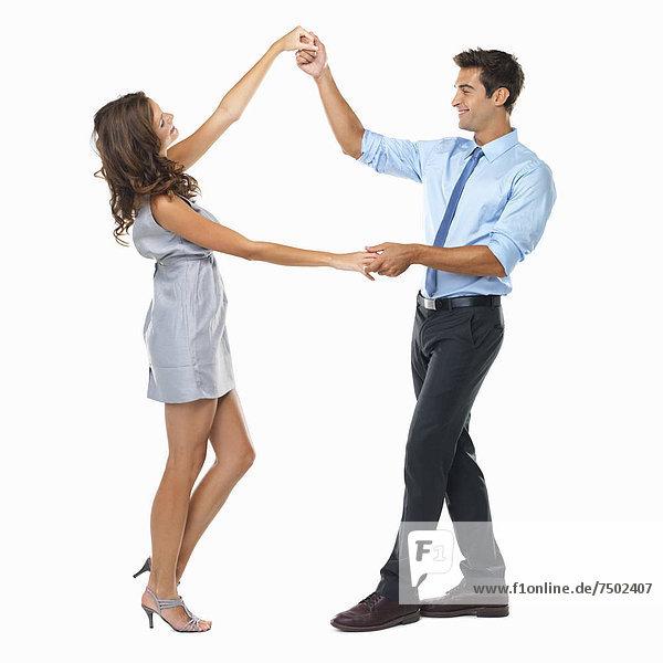 Fröhlichkeit  tanzen  schießen  Studioaufnahme
