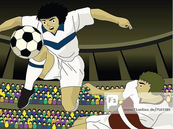 Mann  Wettbewerb  Spiel  2  jung  Fußball