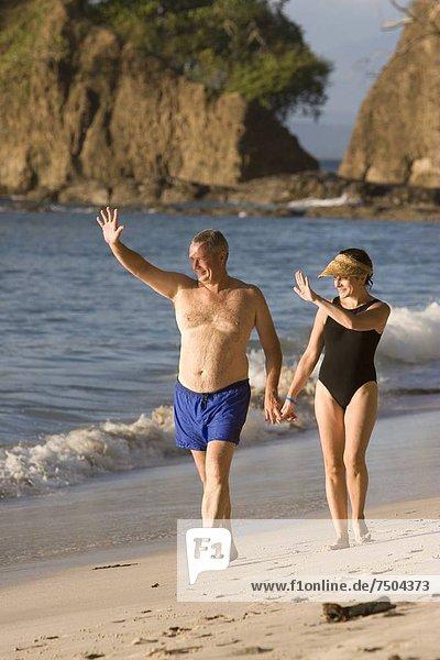 gehen  Strand  halten