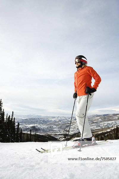 Skifahrer  Ski  Hang