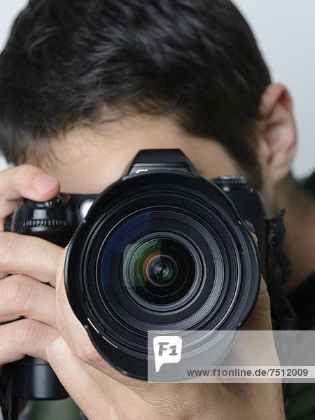 Ein Fotograf macht ein Foto