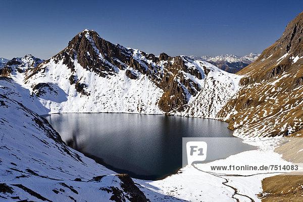 Pfunderer Berge  der Wilde See  hinten die Kalkgrubenspitz  Südtirol  Italien  Europa Pfunderer Berge, der Wilde See, hinten die Kalkgrubenspitz, Südtirol, Italien, Europa