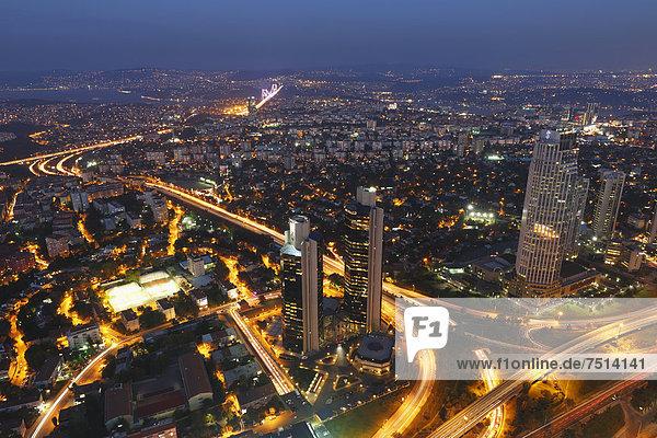 Europa Ansicht Bosporus Istanbul Türkei