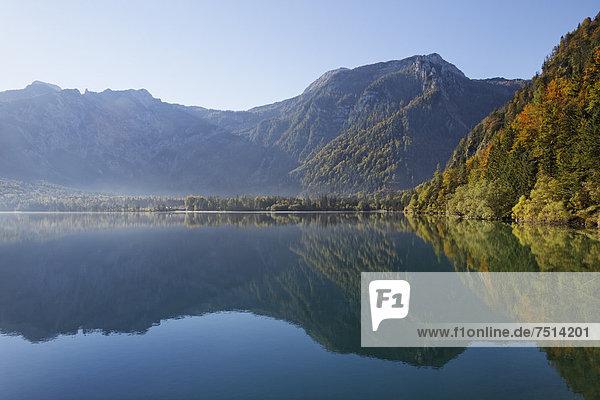 Morgenstimmung am Offensee  Gemeinde Ebensee  Salzkammergut  Totes Gebirge  Oberösterreich  Österreich  Europa