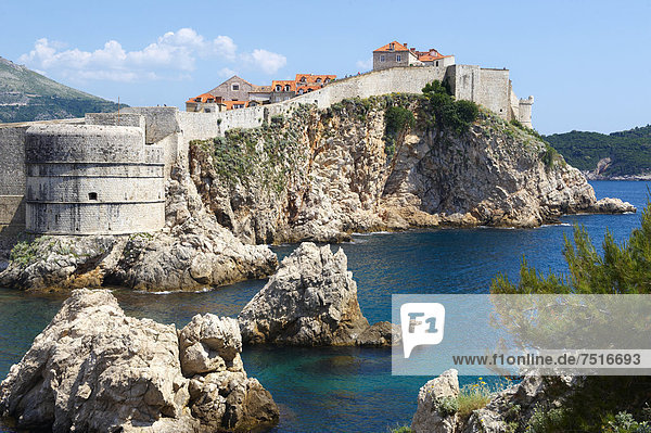 Mittelalter Europa Wand Großstadt Kroatien Dubrovnik