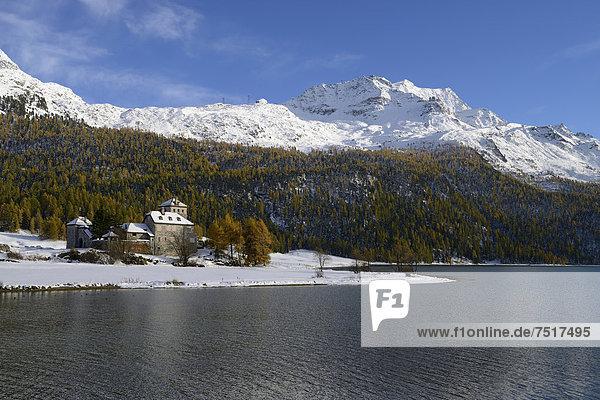 Europa Das Neunzehnte Jahrhundert Engadin Schweiz Kanton Graubünden