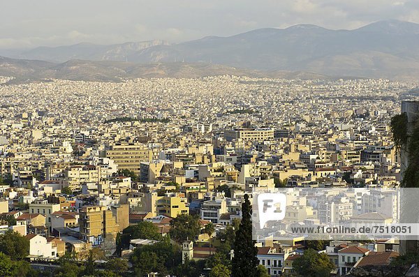 Athen Hauptstadt Europa über Ansicht Akropolis Griechenland