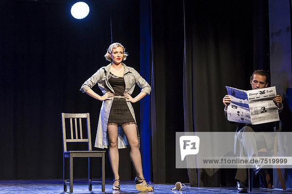 'Musical ''Chicago'' with Natascha-Cecillia Hill as Velma Kelly and Aris Sas as Billy Flynn  live performance  Le ThȂtre in Kriens  Lucerne  Switzerland  Europe'